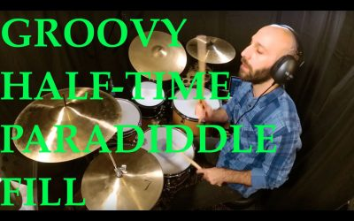 Groovy half-time Paradiddle fill [Drum Lesson]