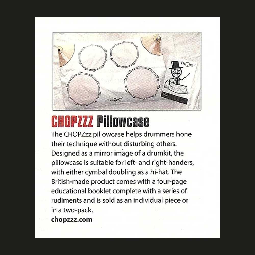 Modern Drummer Magazine - CHOPZzz PiIlowcase gift for drummers