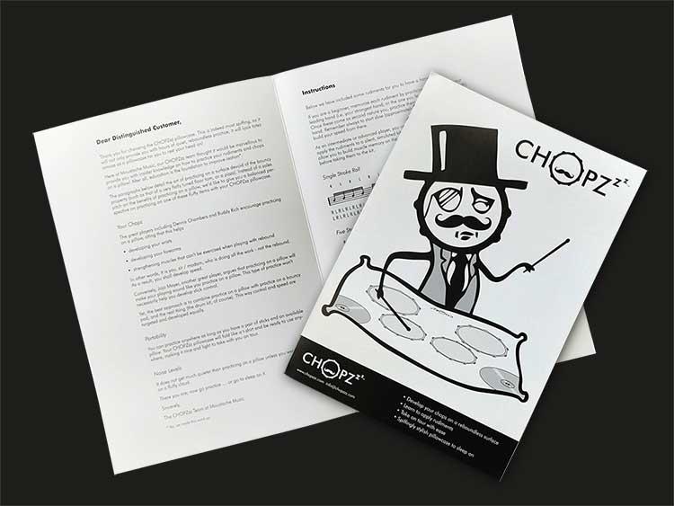 Chopzzz Pillowcase - accompanying booklet