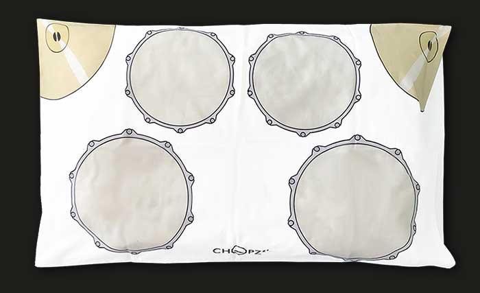 Chopzzz Pillowcase - Pillow gift for drummers